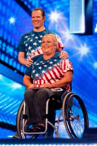 Strictly Wheels at the live auditions on Britains Got Talent in 2012