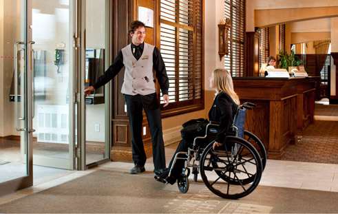Wheelchair accessible hotel