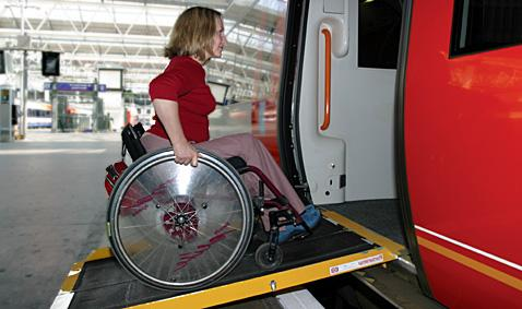 Wheelchair Ramp onto train