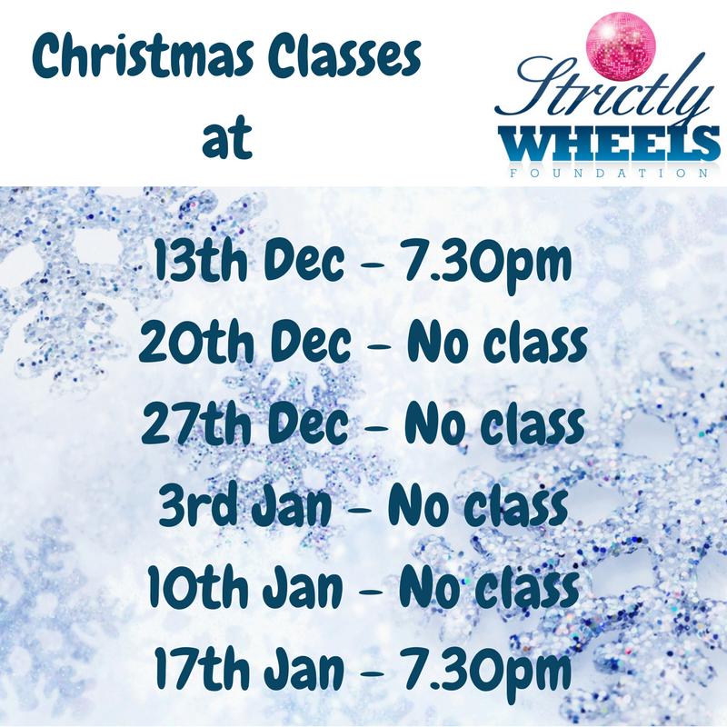 Wheelchair Dance Class Times over Christmas 2017